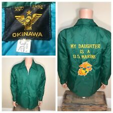 VINTAGE STAR EAGLE EMBROIDERED OKINAWA Satin jacket My Daughter is a US Marine