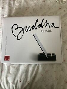 Original BUDDHA BOARD: Water Painting with Bamboo Brush & Stand EUC