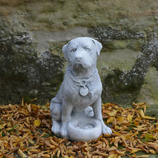 Grand Rottweiler Chien Sculpture D'Animal Animaux Pierre Décoration de Jardin
