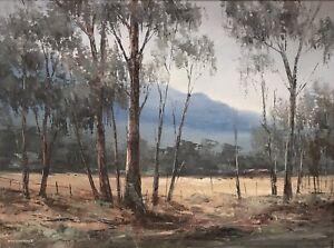 "Original Oil Landscape Painting By Wim Kortland (1923-) ""Near Halls Gap"""