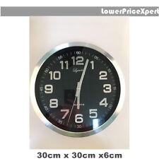 New Lynette Matel Station Silver Quartz Wall Clock Home Decor Display