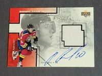 Pavel Bure Auto Jersey Florida Panthers 2000-01 Upper Deck Pros and Prospects
