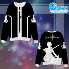 Anime Hoodie Sword Art Online Kirito Cosplay warm Casual Sweatshirt Jacket Gift