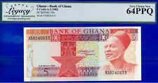 New listing Ghana 5 Cedits 6.3.1982 - Choice New - SCWPM# 19c # 240633
