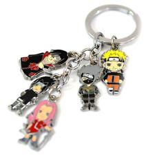 Anime Naruto Sakura Kakashi Itachi Metal Keychain Bag Car Key Ring 1Pcs