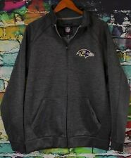 Official NFL Baltimore Ravens Dark Heathered Gray Jacket / Sweatshirt Large NEW
