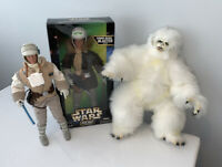 """NEW 1997 Kenner Star Wars 12"""" Han Solo & Luke Skywalker in Hoth Gear + WAMPA!"""