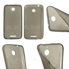 Ultra Thin Slim Soft TPU Silicon Smoke Black Gel Case Cover For HTC Desire 510