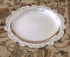 "Poole ""Old English"" Silver-plate Serving Tray, EPNS 5002, 15 inches Diameter"