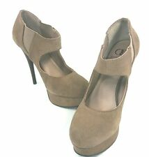KELSI DAGGER, TRINNY PUMP, WOMENS, TAUPE SUEDE, US 8 M, EURO 38, NEW WITH BOX