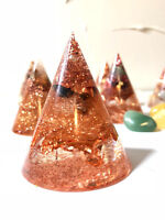 ORGONE CONES - HAND MADE TO ORDER - CUSTOMIZED - COPPER&CRYSTALS 2.5 INCH (50MM)