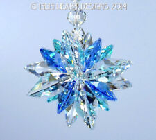 m/w Swarovski Clear Sapphire and Aqua Super Star Suncatcher Lilli Heart Designs