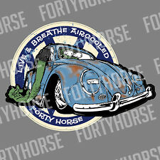 Volkswagen VW Stickers - Live and Breathe Aircooled Beetle