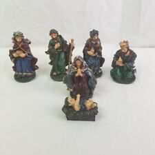 Nativity Set 6 Piece Poly-Resin 3 Wise Men Baby Jesus Mother Mary Christmas