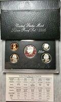 1995 U. S. Mint Silver Proof Set - 5 Coins - Original Mint Box & COA