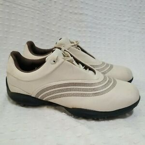 Adidas Womens Golf Shoes Size 7.5 Cream Tan Brown Style 738141