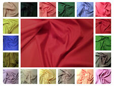 "100% Plain Cotton Poplin Dress Fabric Material - Solid Colours - 44"" (112cm) A-L"