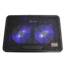 """USB LED 2 Fan 12-15"""" Laptop Notebook Air Cooling Cooler Pad Adjustable Stand"""