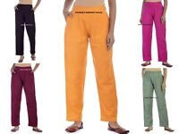 Femmes Coupe Standard Bureau Pantalon Coton Lin Solide Décontracté