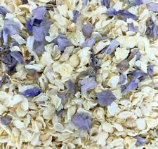 Biodegradable Grey IVORY Wedding Confetti NATURAL Dried Petals DYE-FREE 7 Guests