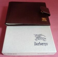Burberry Leather Wallet & Cheque Book LL2 Brown
