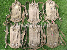 6 Marine ILBE 3L 100 OZ USMC Hydration Carrier Bag Back Pack Coyote + Adapter GI