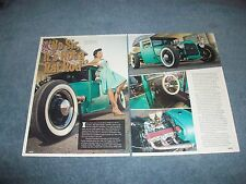 """1928 Ford Model A Hot Rod Pickup Article """"No Sir, It's Not a Rat Rod"""""""