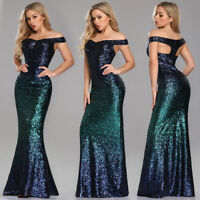 Ever-pretty US Plus Size Long Celebrity Dress Sequins Mermaid Evening Prom Gown