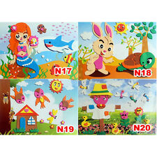 3D DIY EVA Crafts Foam Puzzle Stickers for Toy Art Gift f Kids Pattern RandomF-T