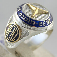 Turkish Handmade 925 Sterling Silver Mercedes BENZ Symbol Ring All Sizes