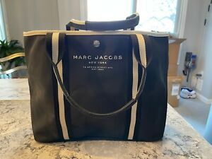 Marc Jacobs Taille M0012008 001 Black Canvas Tote Bag - BNWT MSRP $195.00