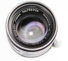 Nikkor Black Rim 5cm f2 Leica SM  #756926