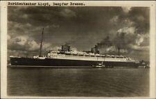 Norddeutscher Lloyd Bremen Steamship Dampfer Bremen Real Photo Postcard