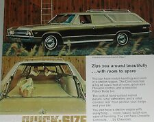 1967 Chevrolet advertisement, Chevelle Concours Station Wagon, Chevy