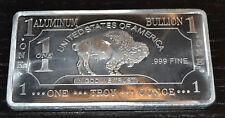 1 Unze Aluminiumbarren American Buffalo als Sammlerstück Geschenk Wertanlage