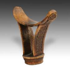 ANTIQUE AFRICAN ART BARSHIN HEADREST WOOD BONI SOMALI ETHIOPIA WEST AFRICA