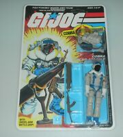 *RECARDED 1985 GI Joe Snow Serpent Figure Complete Sealed *CUSTOM File Card Back