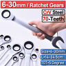 Combination Ratchet Gear Head Wrench Slogging Spanners Set Crv Steel 6-50mm US