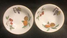 "Royal Worcester Evesham Gold, Pair Of Cereal Bowls, 6.5"" wide, VGC,"