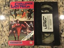 CHALLENGE OF THE LADY NINJA RARE OOP VHS! NOT ON DVD! 1987 MARTIAL ARTS ACTION!