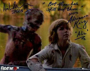 Friday the 13th horror movie photo signed by Ari Lehman and Adrienne King