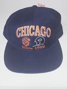 Vintage Champion NFL Chicago Bears Snapback Hat Rare NWT