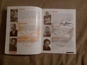 JIM BROWN AUTOGRAPHED PROGRAM: CLEVELAND BROWN REUNION; Must See Pics
