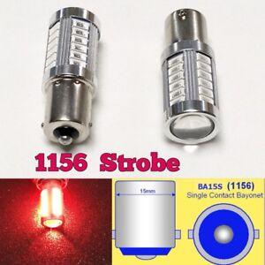 Strobe 1156 P21W 3497 7506 33 LED Projector Red Bulb Backup Reverse Light B1 #1