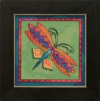 MILL HILL - LAUREL BURCH Counted Cross Stitch Kit DRAGONFLY LIME - LB14-1915
