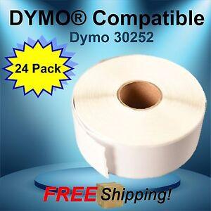 "30252 Dymo® Compatible Each Label Is 3 1/2"" Length X 1 1/8"" Width 24 Rolls"
