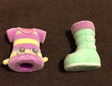 Shopkins FASHION SPREE ULTRA RARE BOP TOP FS-059 & CUTE BOOT FS-050