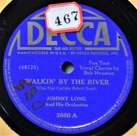 Johnny Long Walkin By the River 78 NM Decca 3660 Accident'ly on Purpose Dance