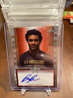 Brian Branch 2020 Leaf All American Metal 1/3 Red Tour Auto  Alabama