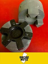 L075 Flexible 3-Piece L-Jaw Coupling Set & Buna-N NBR Rubber Spider- PICK BORE